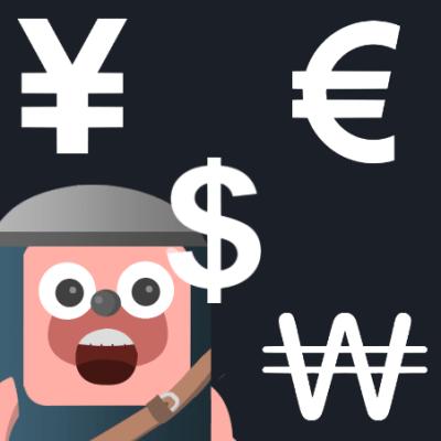 円、ユーロ、ドル、韓国ウォン