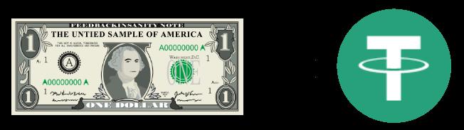 1ドル=1 USDT