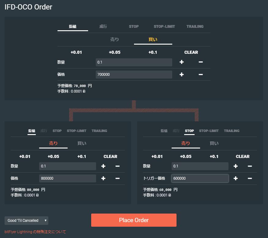 IFD-OCO注文