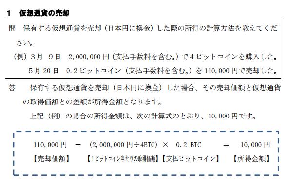 仮想通貨の売却