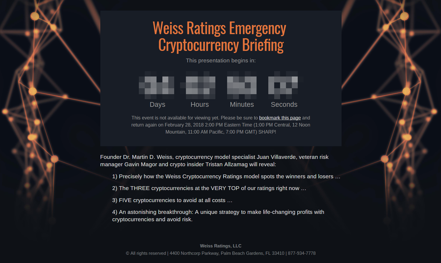 Weiss Ratings Emergency Cryptocurrency Briefing