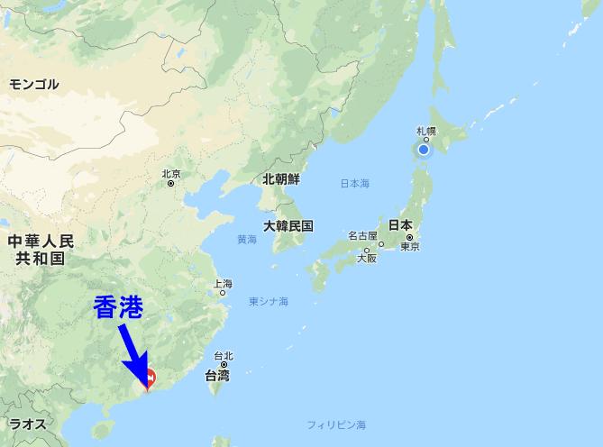 香港の場所